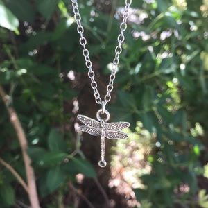 Dragonfly chain necklace pendant